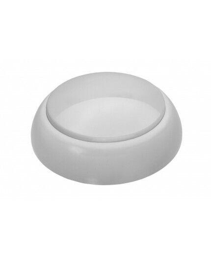 ROUND Ceiling / Wall Bulkhead Light Lamp, ES / E27, max.60W, IP44, IK10, matt co