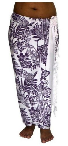 ca.100 Modelle im Shop Sarong Strandtuch Pareo Wickelrock Loop weiß lila Sar23