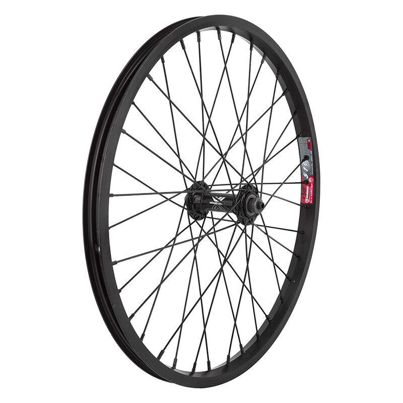 WM Wheel  Front 20x1.75 406x19 Aly Bk 36 Aly Qr Bk Ss2.0bk