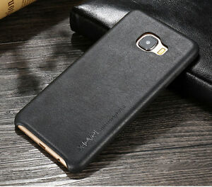 Genuine-HandMade-Ultra-thin-Leather-Hard-Back-Case-Cover-For-Samsung-Galaxy