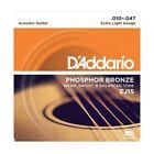 D'Addario EJ15 Phosphor Bronze Extra Light Acoustic Guitar Strings 10 - 47