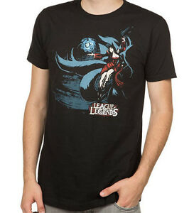 League-of-Legends-Ahri-Black-Men-039-s-T-Shirt-Anime-Licensed-NEW