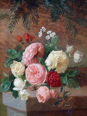 ROSES AND GRAPES J Medard flowers Tile Mural Bathroom Backsplash Marble Ceramic