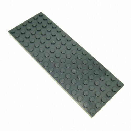 LEGO Plate 6 x 16 DARK GREY part # 3027 BRAND NEW