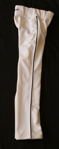 NEUF blanc avec rayures noires Marucci Boy/'s Baseball Pantalon taille Youth Small