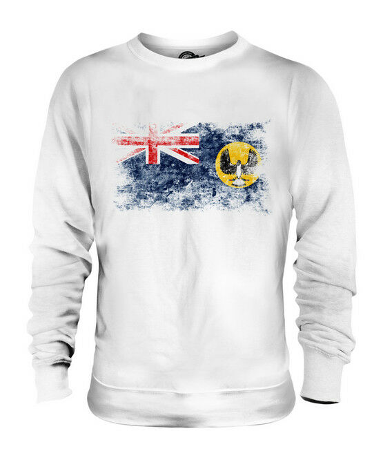 SOUTH AUSTRALIA DISTRESSED FLAG UNISEX SWEATER TOP AUSTRALIAN SHIRT JERSEY GIFT