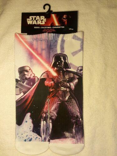 Darth Vader /& Storm Trooper New Star Wars Disney Size 6-8 Full Graphic Socks