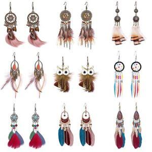 Boho-Feather-Long-Tassel-Dream-Catcher-Earrings-Women-Hook-Dangle-Jewelry-Gifts