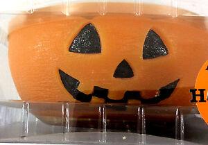 Halloween-Jack-O-Lantern-3-Candles-Bowl-Orange-Tabletop-Decor