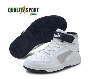 Puma-Rebound-Layup-Bianco-Scarpe-Shoes-Bambino-Sportive-Sneakers-370488-10-2020