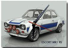 FORD MK1 ESCORT RS METAL WALL CLOCK,VINTAGE CARS,CLASSIC CARS,