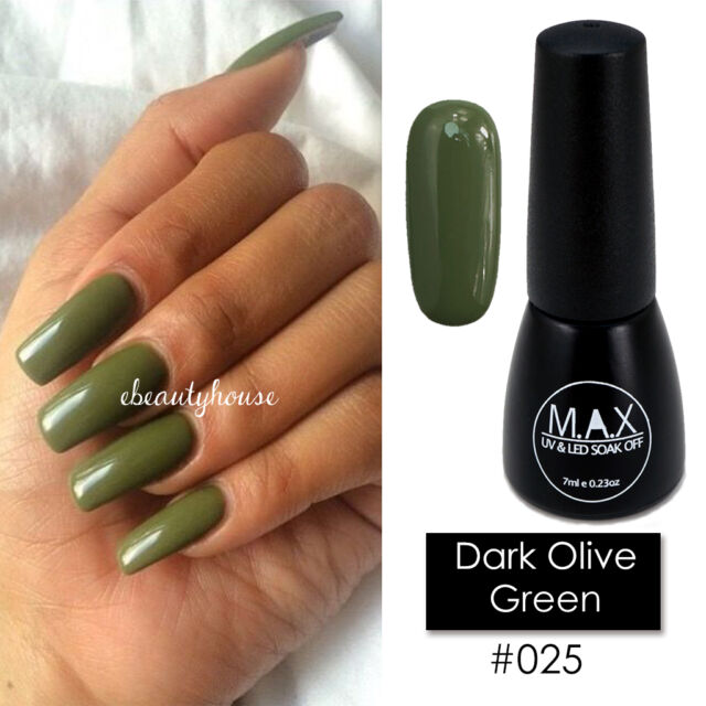 Max 7ml Nail Art Color UV LED Soak off GEL Polish #025-dark Olive ...