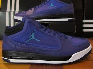 a64937b4bbb883 DS Nike Air Jordan Post Game Grape Ice Emerald Blk 10.5 552665 593 ...