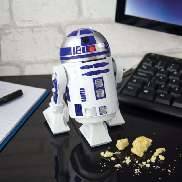 OFFICIAL STAR WARS R2-D2 USB POWERED OFFICE COMPUTER DESKTOP VACUUM CLEANER