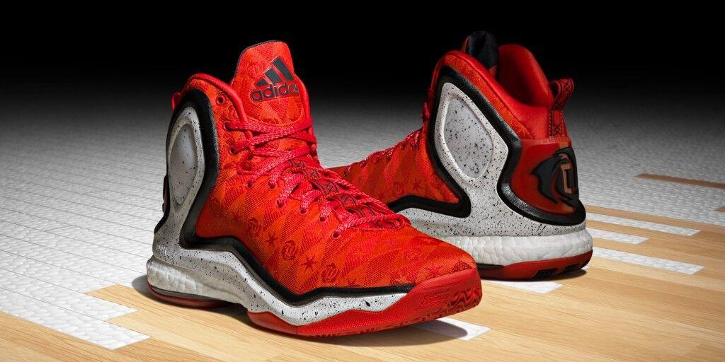 Adidas D Rose 5 Boost Woven Brenda Scarlet/Black/White Basketball C77290
