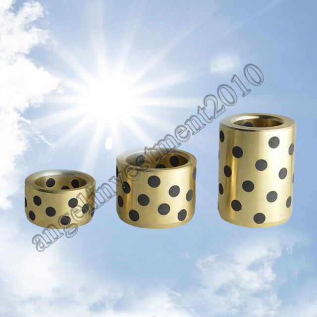 New 8*12* 8mm JDB graphite lubricating brass bearing bushing sleeve oilless