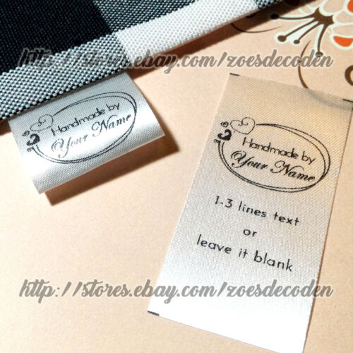 New design Custom name clothes label sew in folding hanging tag garment handmade