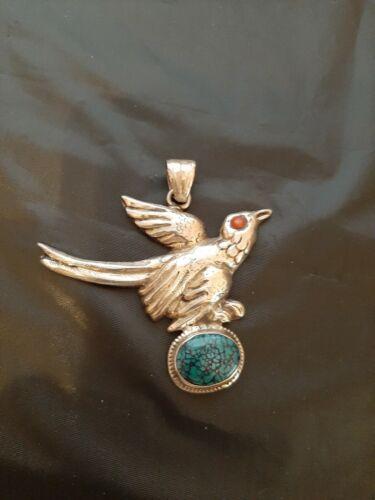 Afghanistan Silver Bird Pendant