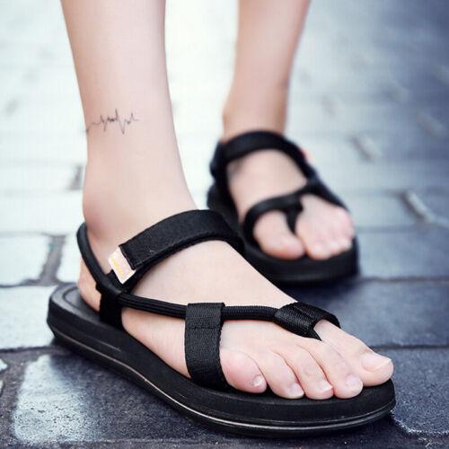 Mens Gladiator Sandals Summer Beach Shoes Flip Flops Slip on Open Toe Slippers