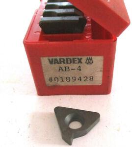 10-Plaques-pour-Plaquettes-Filetage-AB-4-de-Vardex-Inserts-Filetes-Neuf-H30876