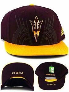 bf39d07470d6e Arizona State Sun Devils New Adidas Go Devils Maroon Gold Era ...