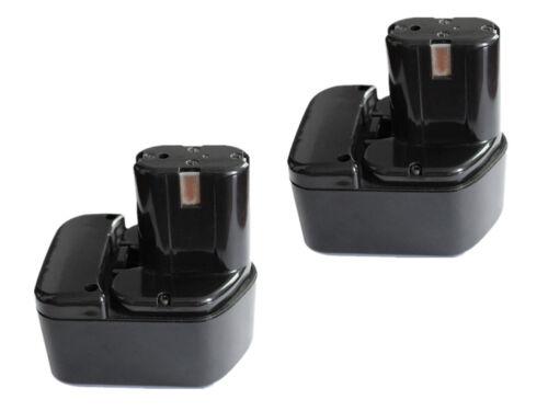 2x Akku für Hitachi 12V 3000mAh EB1214S EB1220BL EB1230HL EB1220RS EB1222HL EB12