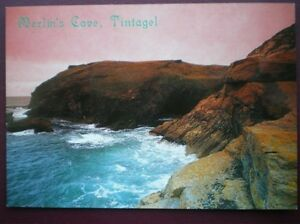 POSTCARD-CORNWALL-TINTAGEL-MERLIN-039-S-COVE