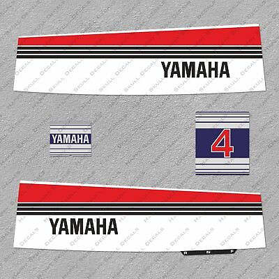 Yamaha 70 HP Blue Cowling 80/'s Outboard Engine Decals Sticker Set reproduction