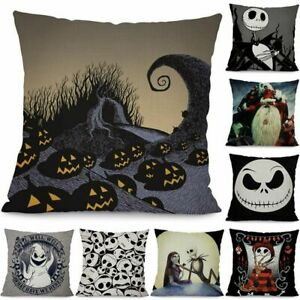 Details about Nightmare Before Christmas Jack Skellington Cushion Cover Pillow Case Halloween