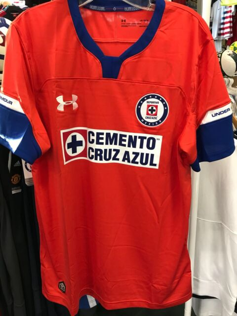 52f0bda1fcf Cruz Azul Under Armour Red Stadium Soccer Jersey 2018 19 Size S ...