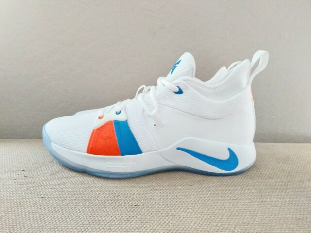 0dcc0c17ea6 New DS Nike PG 2 The Bait II White Blue Orange men sz 10 10.5 11 ...