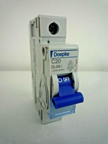 DOEPKE DLS 6i C20 20 AMP SINGLE POLE CIRCUIT BREAKER MCB 10KA