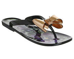 a16c5cc3e1d903 Image is loading Womens-Ted-Baker-Rueday-Flip-Flops-ENTANGLED-ENCHANTMENT-