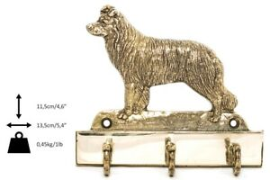 Border Collie - Cintre En Laiton Avec Un Chien, Haute Qualité, Art Dog Fr