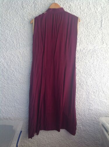 Back Sz Front Long Sleeveless Yasir Red L Shalwar Short Ali Top Kameez Wine 6T8wZZqA