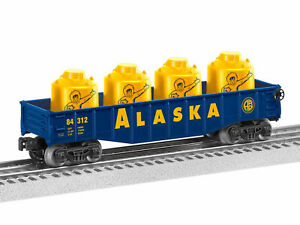 Lionel-6-84312-Alaska-Gondola-With-Canisters-0-027-Freight-Car-NEW-IN-BOX