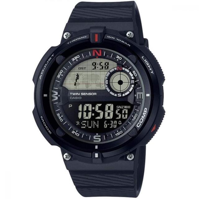 Casio Herren Armbanduhr SGW-600H Herrenuhr Digital Männer Uhr Kompass Schwarz