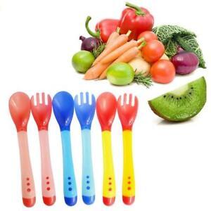 Baby-Toddler-Temperature-Sensing-Cutlery-Set-Travel-Case-Feeding-Weaning-Spoon