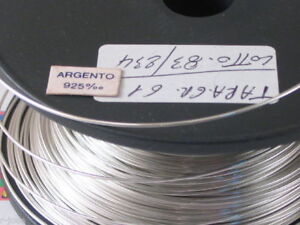 1 metro filo in argento 925 placcato oro giallo diametro  0,35 mm made in italy