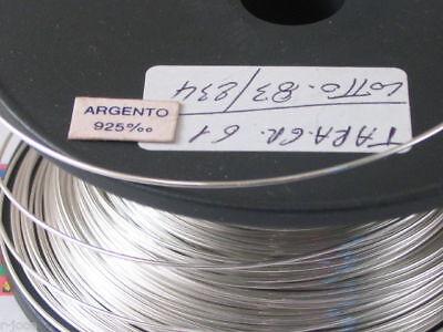 DIAMETRO 0,4 MM ITALY DURO 1 METRO DI FILO IN ARGENTO 925 STERLING CRUDO