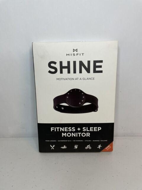 Misfit Shine Fitness And Sleep Monitor Motivation At A Glance Jet Black # SHOAZ