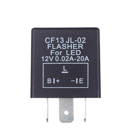 3 Pin Electronic Car Auto LED Flasher Relay CF13 JL-02 Fix Turn Signal Light 12V