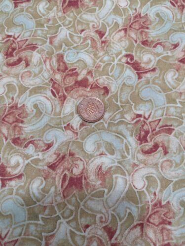 Jasmine 120-471 100/% algodón acolchado Tela Floral Remolino Pincel Studio Craft
