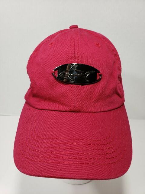 Greg Norman with shark emblem Red one size fits all Hat Ballcap 100% cotton
