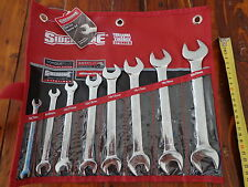 NEW SIDCHROME 8 PIECE METRIC OPEN END SPANNER SET      EXPRESS POSTAGE