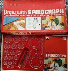 Original Draw With Spirograph Denys Fisher Toys Set Vintage Rare 1968
