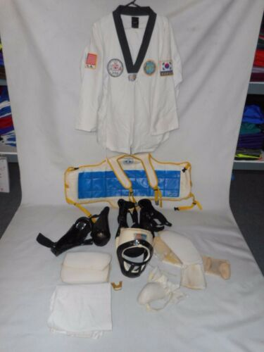 Taekwondo Sparring Protective Gear Set,Size Adult Large,Head gear,chest included