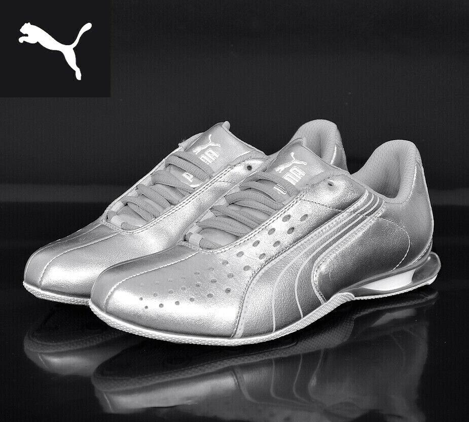 Puma lowvitation lux cortos Drift Cat Motorsport zapato señores señora plata blancoo