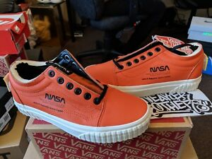 Vans Old Skool x NASA Space Voyager Firecracker Orange Red White ... b556819de
