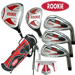 NEW-JUNIOR-GOLF-SET-7-PCE-for-KIDS-10yrs-plus-WITH-HYBRID-CHILDRENS-GOLF-CLUBS